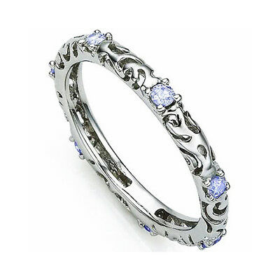 1/5 CT TANZANITE 925 STERLING SILVER RING New Sparkling Egyptian Blue