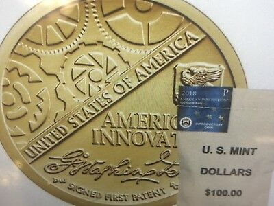 2018 New US INNOVATION Dollar Coin P & D set  plus Bonus USPS forever stamp (1)