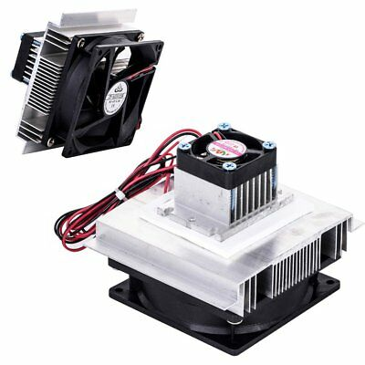 12V 6A Thermoelectric Peltier Refrigeration Cooling System Kit Cooler Fan DIY MR
