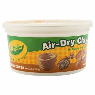 Crayola Air-Dry Easy-to-Use Durable Non-Toxic Self-Hardening Modeling Clay, 2.5