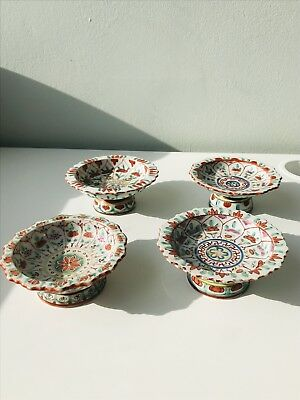 Antique Chinese Qing Dynasty Porcelain Wucai plates  , Four piece