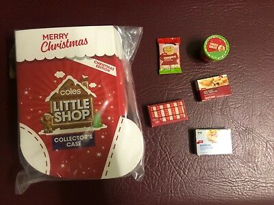 CASE $23 *FREE SHIP* YOU CHOOSE Coles Little Shop Christmas Collectable Minis