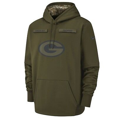 Nike GREEN BAY PACKERS 2018 Mens NFL Salute to Service Therma STS Hoodie Hoody