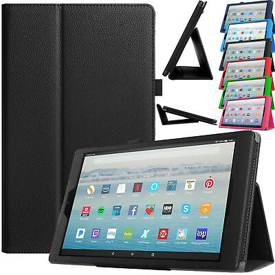 Leather Smart Cover Magnetic Stand Case For Amazon Fire HD 10 2017 Alexa 7th Gen