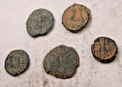 (5) Ancient Roman Coin Lot // Uncleaned W/ Details // 5 Coins (ACL73)