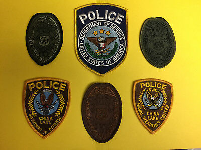 Collection Of 6 Various Department Of Defense Police patches.