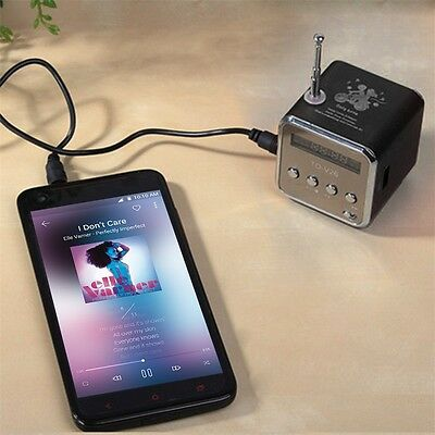 USB //FM Green N5R6 TD-V26 Portable Mini Digital Speaker with Micro SD TF