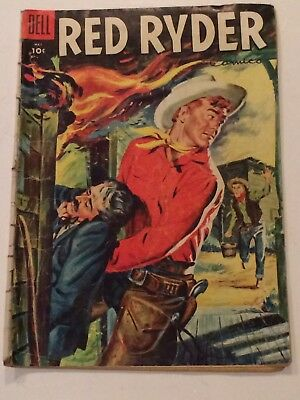 Red Ryder Cowboy 141 Fred Harman Western Dell TV Series Comic Book May 1955