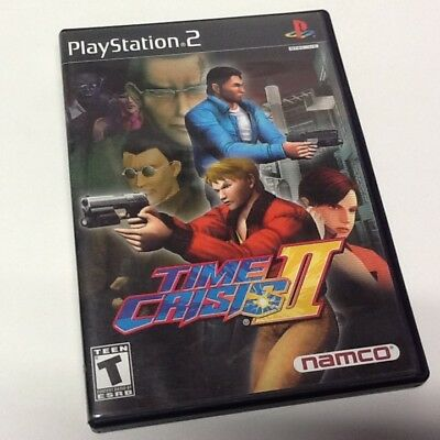 Time Crisis II Sony PlayStation 2  PS2 COMPLETE TESTED AND WORKING