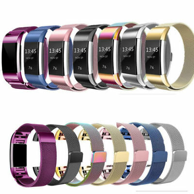 For Fitbit Charge 2 Band Metal Stainless Steel Milanese Loop Wristband Strap AUS