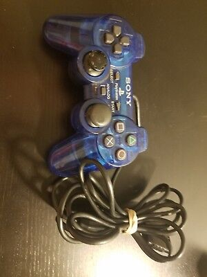 Official Sony PlayStation 2 Dual Shock Analog Blue Controller