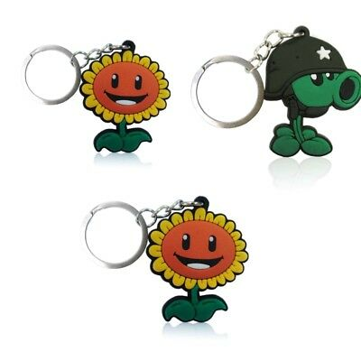 3PCS Plants vs. Zombies Chain Key Ring Kids Toy Key chain Key Holder Charms Gift