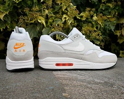 732751d3e0ebb BNWB   Authentic Nike ® Air Max 1 Platinum   Total Orange Trainers UK ...