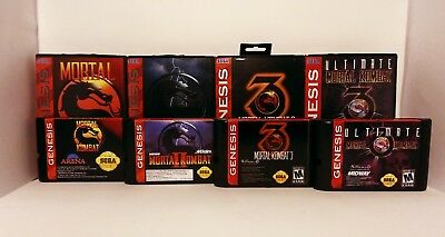 Mortal Kombat 1,2,3, Ultimate Tetralogy for Sega Genesis or Mega Drive