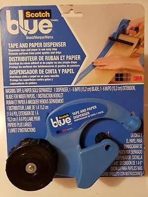 SCOTCH BLUE TAPE AND PAPER DISPENSER M1000-SB  New Fast Free Shipping!! (C)