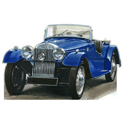 """MORGAN TOURING CAR 6' 4"""" Wide CARDBOARD CUTOUT Standup Standee Poster Automobile"""