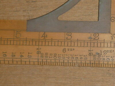 ANTIQUE COLLECTABLE nice RABONE TAILORS SQUARE PROPORTIONATE WAIST MEASURE