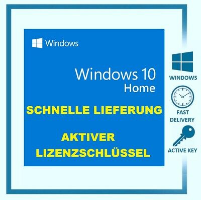 Windows 10 Home 32/64Bit ✔ Vollversion ✔ Lizenz Online ✔ Aktivierung für 1 PC