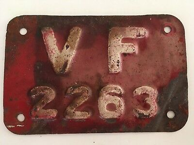 1920's 1930's Providence Rhode Island Volunteer Fireman License Plate SMALL RARE
