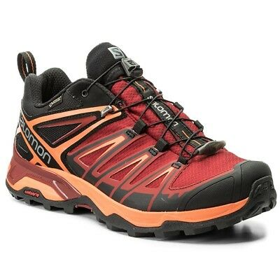 Salomon X Ultra 3 Gtx Scarpa Uomo Trekking Outdoor Impermeabile Gore Tex Red Blk