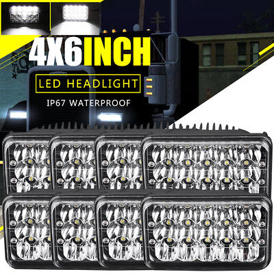 DOT 8pcs LED Headlights For Kenworth T400 T600 W900B W900L Classic 120/132 Bulb