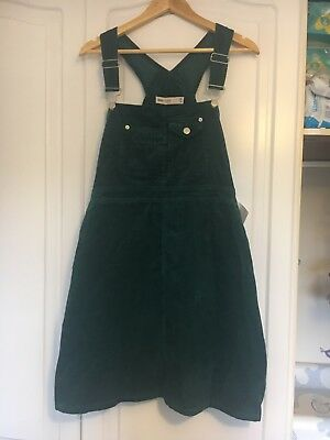 asos maternity Dungarees Dress Cord Green Size 14 BNWT