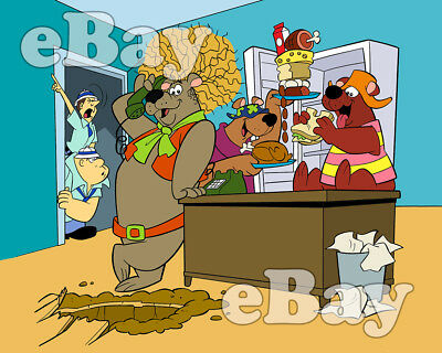 Rare! HELP! IT'S THE HAIR BEAR BUNCH! Cartoon TV Photo HANNA BARBERA Studios