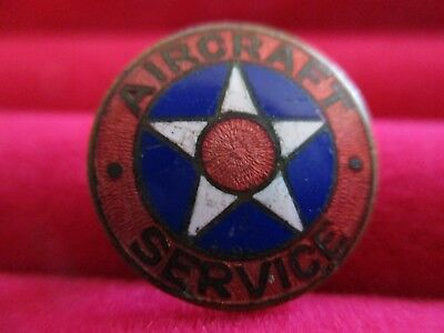 WWII WRIGHT MARTIN AIRCRAFT SERVICE PIN Military Aviation
