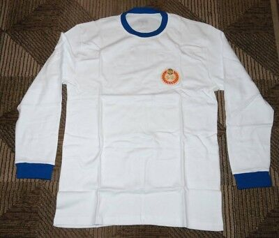 Peroni Beer Long Sleeve Soccer Jersey Shirt White With Blue Trim Size Xl
