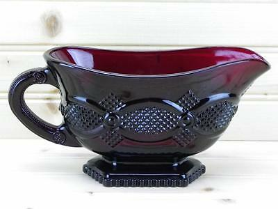 Avon 1876 Cape Cod Collection Sauce / Gravy Boat  Ruby Red - Discontinued