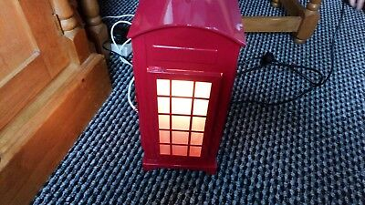Red Old fashioned Telephone Box Light