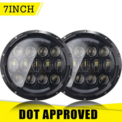 For Kenworth T2000 7Inch LED Headlight DRL Hi/Low Beam H4 H13 Adapter Lamp Set 2