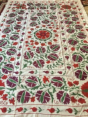 100%Original Uzbek Vintage Large Beautiful Handmade Wall Decor Embroidery Suzani