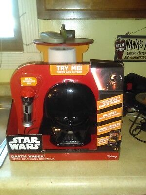 New Star Wars Darth Vader Voice Changing Boombox Age 3+