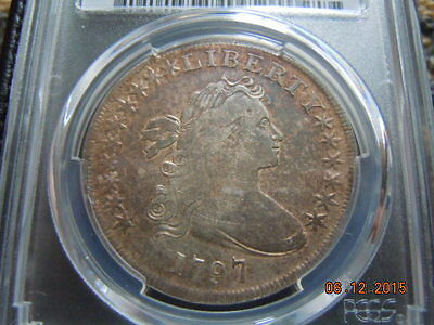 1797 Draped Bust Silver Dollar, Pcgs Vf Details,10X6 Stars, 7000 Minted