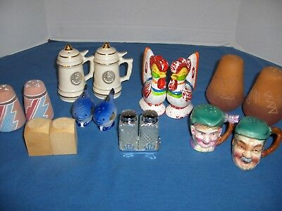 Lot of  8 ~ Vintage Sets of Salt & Pepper Shakers ~ Very  Nice Condition ~Used
