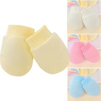 Soft Cotton Newborn Mittens Baby Anti Scratch Unisex Face Protection Hand Guard