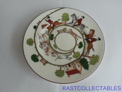 Crown Staffordshire Hunting Scene Tea Plates - 6 1/8 inch