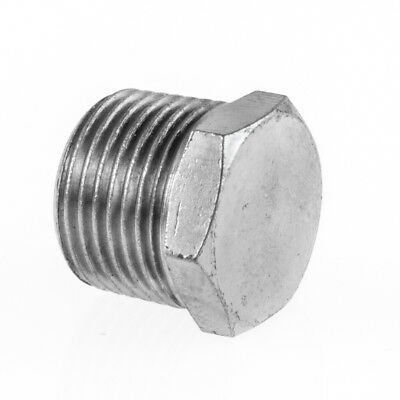 """End Plug Stop End Male BSP Hydraulic / Pneumatic Pipe Fittings BZP 1/8"""" To 1/2"""""""