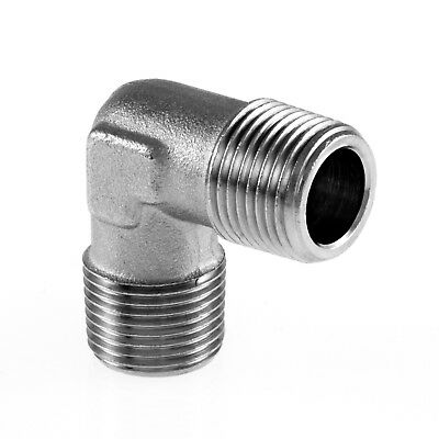 "Equal Elbow Male x Male BSP Hydraulic / Pneumatic Pipe Fittings BZP 1/8"" To 1/2"""