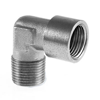 "Equal Elbow Male x Fem BSP Hydraulic / Pneumatic Pipe Fittings BZP 1/8"" To 1/2"""