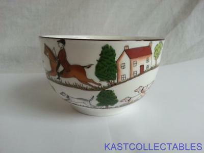 Crown Staffordshire Hunting Scene  Sugar Bowl - Coalport Backstamp