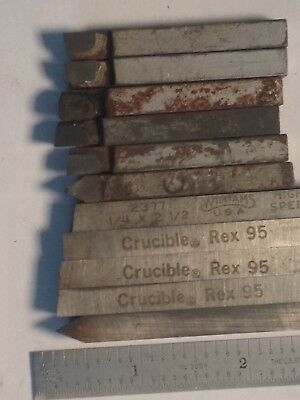 "1/4"" HSS Lathe Tool Blanks and Cemented Carbide (11) Total"