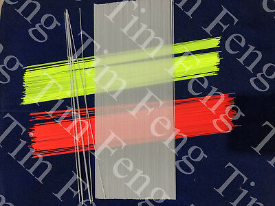 Fiberglass Stem For Hand Making Pole Fishing Float Clear AND Painted Red Yellow