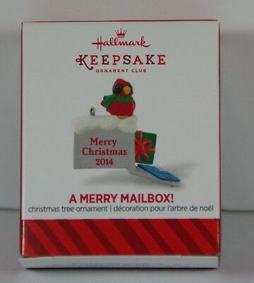 Hallmark 2014 A Merry Mailbox  Miniature Ornament Local Club Exclusive REPAINT