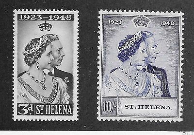 St Helena Sg 143-144 Silver Wedding B-23