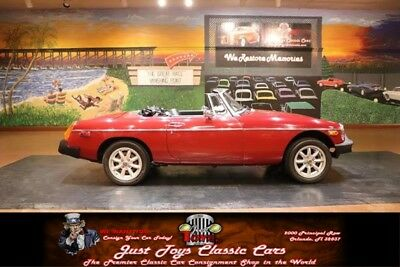 1978 MGB -- MG MGB Burgandy with 5,000 Miles, for sale!