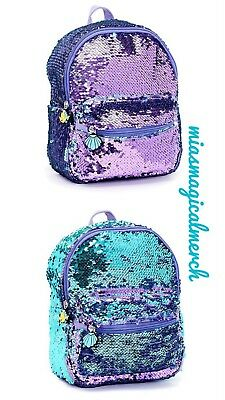 Brand New Official Disney The Little Mermaid Reverse Sequin Backpack