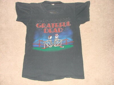 Vintage 80s Grateful Dead Size Medium Concert Shirt
