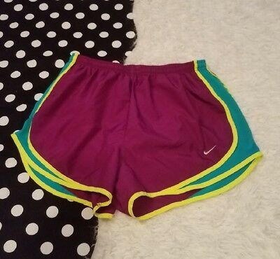 Womens Nike Dri-Fit Running Shorts Lined size Large L Purple Athletic Wear Gym